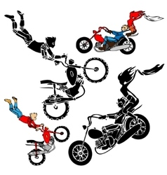 Teens on motorbikes vector