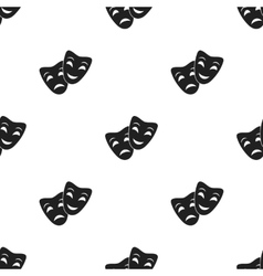 Theater masks icon in black style isolated on vector