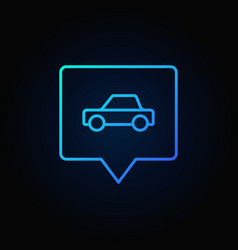 Blue car in square pin vector
