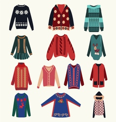 Womens sweaters - vector