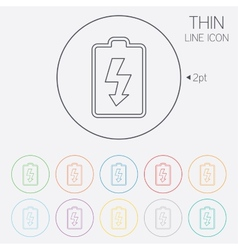 Battery charging sign icon lightning symbol vector