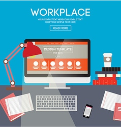 Workplace design vector