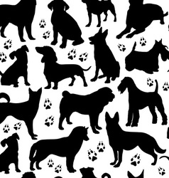 Dog seamless pattern vector