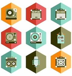 Icon instrument play music vector