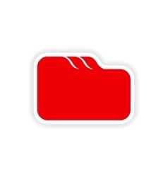Icon sticker realistic design on paper file folder vector