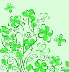 Abstract green spring vector
