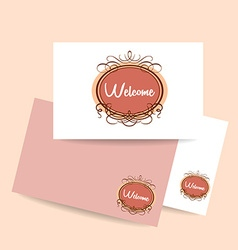 welcome invitation template vector image