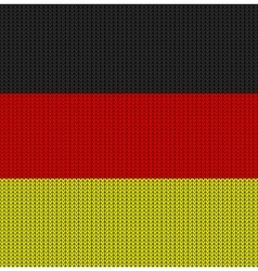 Knitted flag of germany vector