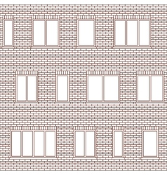 Brick facade pattern 1 vector