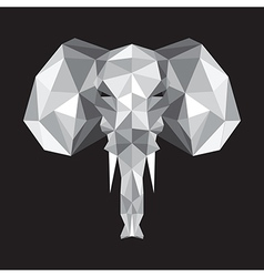 Abstract origami elephant vector