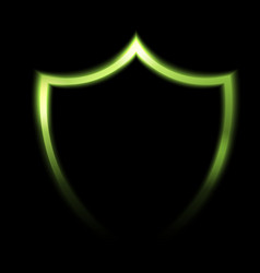 Abstract protection shield on black background vector image