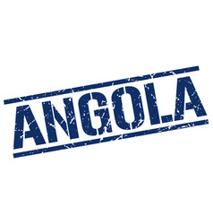 Angola blue square stamp vector