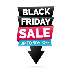 Black Friday sale banner Black pink and blue vector image vector image