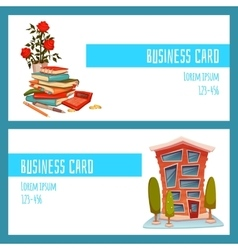 Business card concept with office building and vector