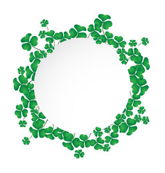 circle space with shamrock vector image vector image