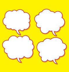 comical bubble speech vector image vector image