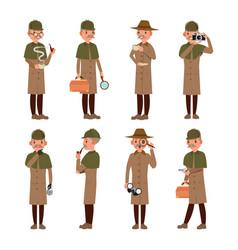 Detective professional vintage tec snoop vector