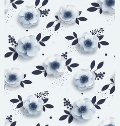 Elegant seamless pattern with flowers vector