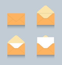 envelope icon logo set vector image vector image