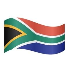 Flag of south africa waving vector