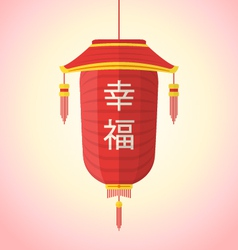 flat style chinese new year red lantern vector image
