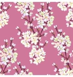 Hand drawn sakura design vector image