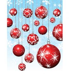 hanging baubles vector image vector image