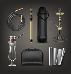Hookah stuff set vector
