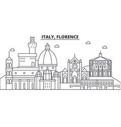 italy florence architecture line skyline vector image vector image
