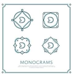 Letter d monogram vector