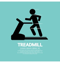 Man running on a treadmill vector
