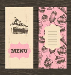 Menu for restaurant cafe bar coffeehouse vector image vector image