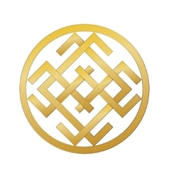 Mysterious ancient Slavic symbol of good fortune vector image vector image