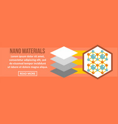 nano materials banner horizontal concept vector image vector image