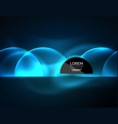 Neon glowing glass transparent circles background vector