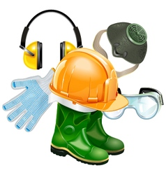 Protective equipment concept vector