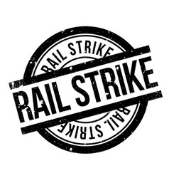 Rail strike rubber stamp vector