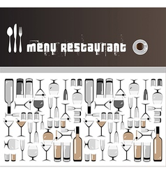 restaurants and bars menus vector image