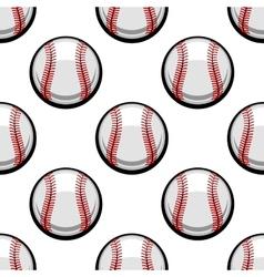 Seamless pattern of baseball balls vector
