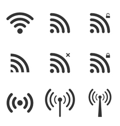 Set of wi-fi and wireless icons wifi zone sign vector