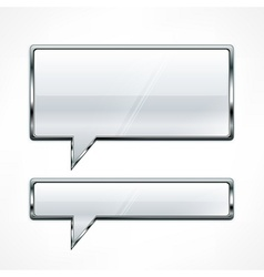 Speech bubbles metallic vector image