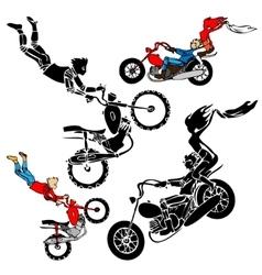 Teens on motorbikes vector image