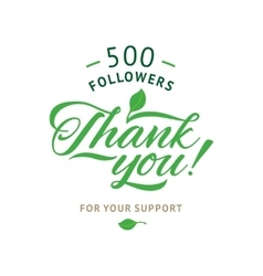 Thank you 5000 followers card ecology vector image vector image