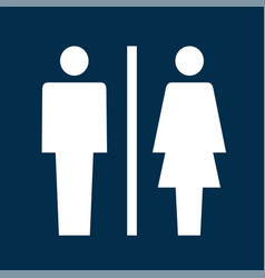 toilet sign icon vector image vector image