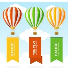 Hot air balloon banner vector