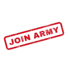 Join army text rubber stamp vector