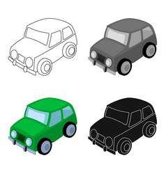 Car icon in cartoon style isolated on white vector