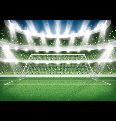 soccer stadium goal post football arena vector image