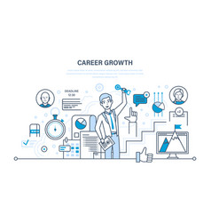 career growth progress in education qualities vector image