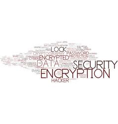 Encryption word cloud concept vector
